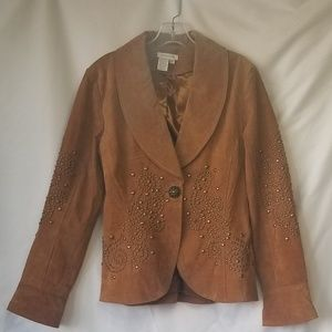 Boston Proper studded Suede Jacket size 10